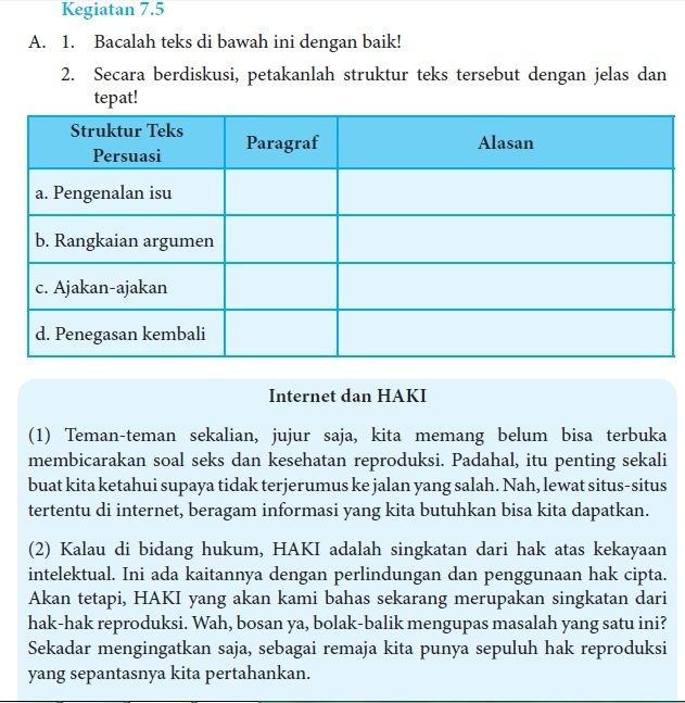 Kunci Jawaban Buku Bahasa Indonesia Edisi Revisi 2017 Kurikulum 2013 Halaman 153