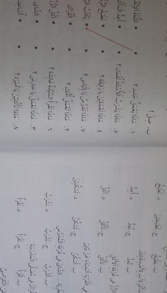 Kerjakan Bahasa Arab Hal 121 123 Kelas 7 Jawabannya Saja