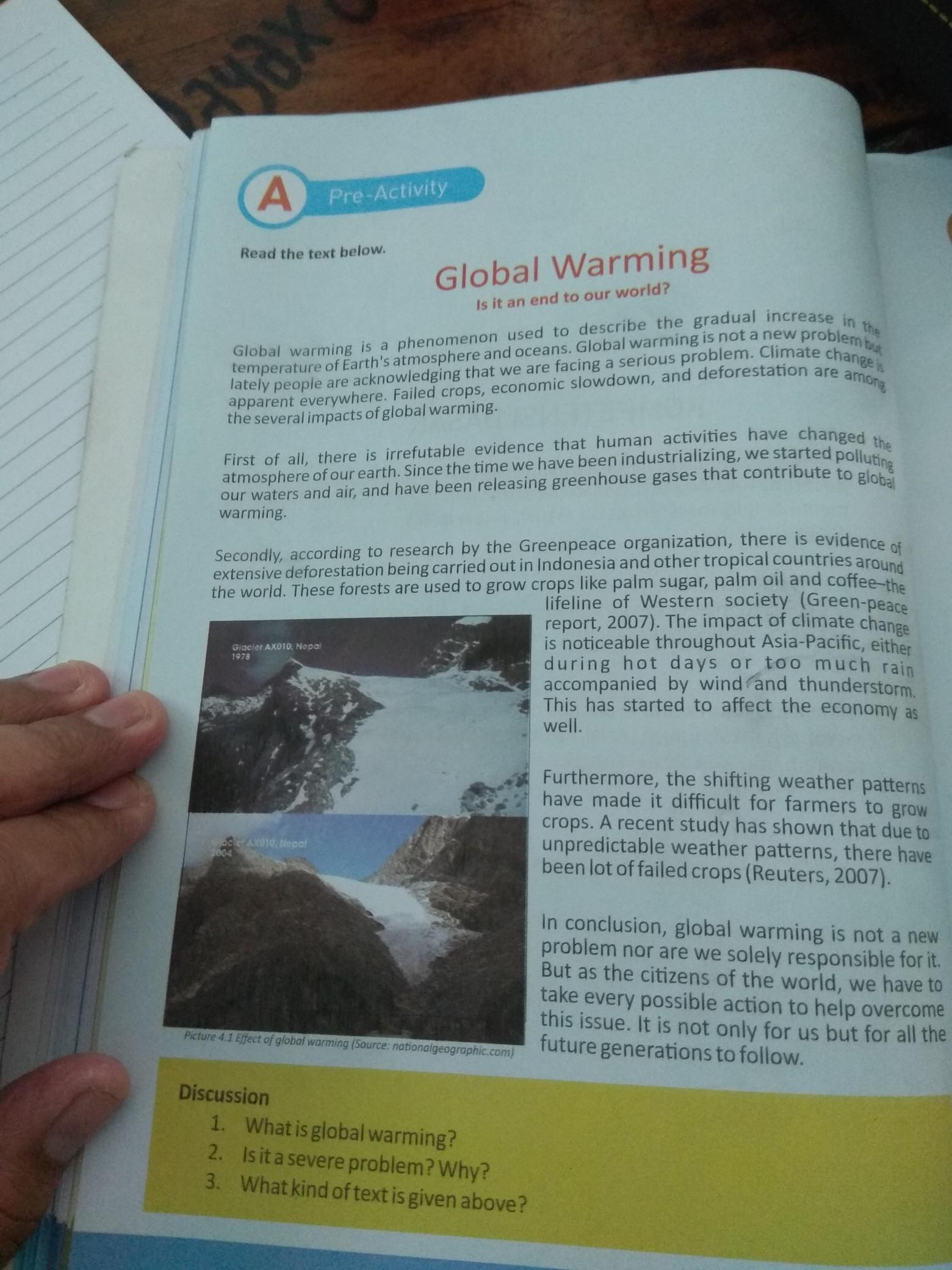 Buat Pertanyaan 5 W 1 H Dari Teks Global Warming Brainly Co Id