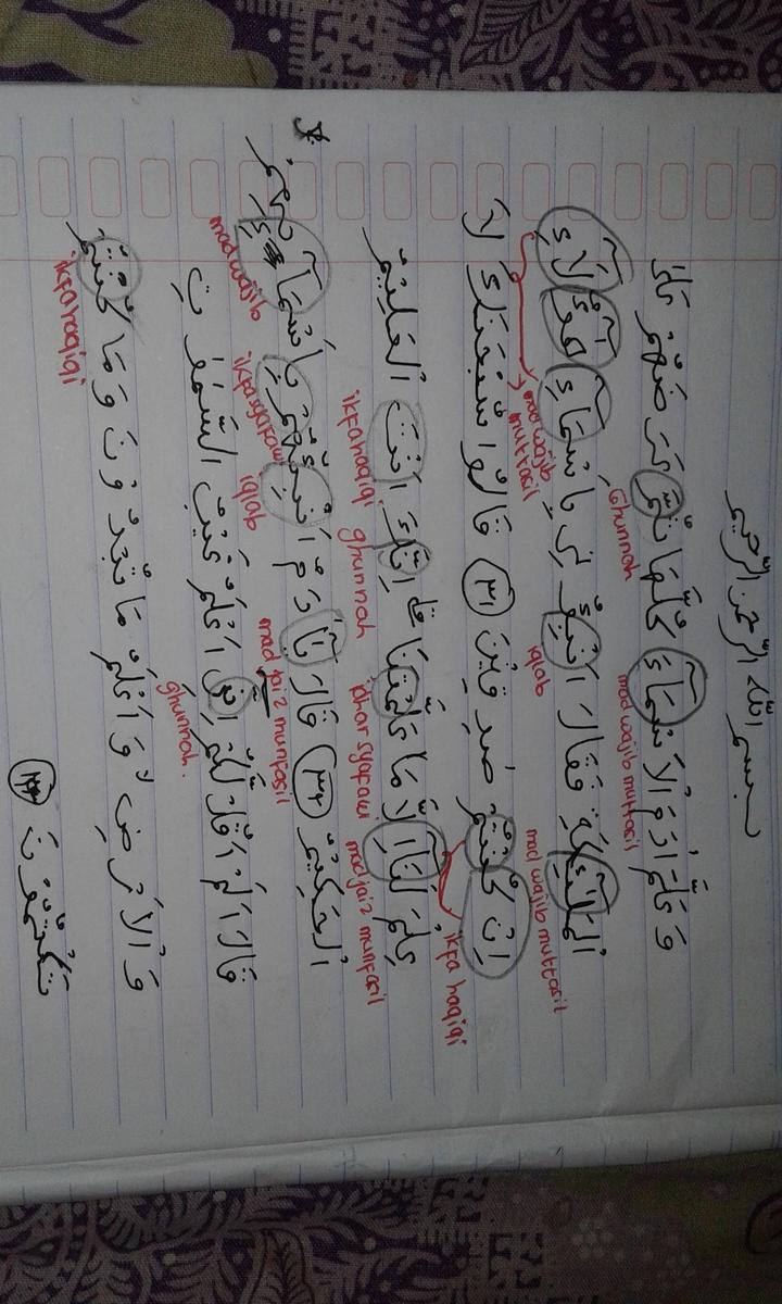 Apa Tajwid Dari Surah Al Baqarah Ayat 31 Sampai 33 Beserta Ditandai