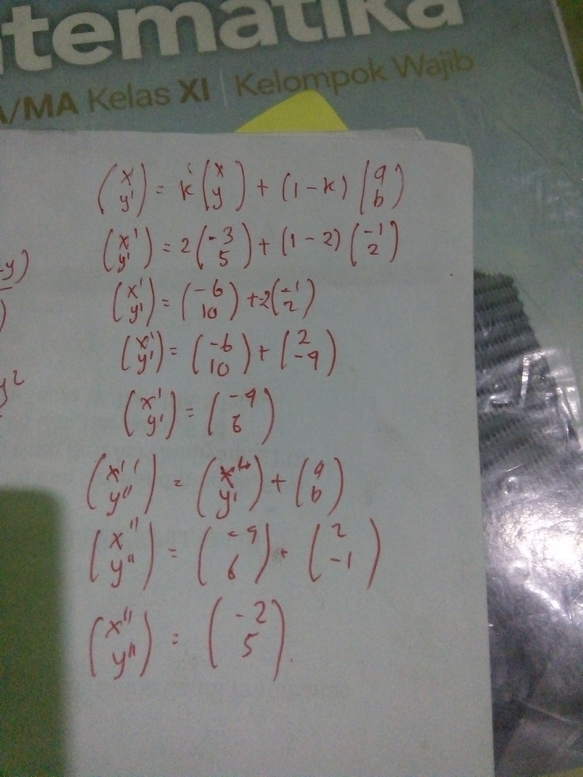 Bayangan Titik A 3 5 Oleh Dilatasi P 2 Dengan P 1 2 Dilanjutkan Translasi T 2 1 Brainly Co Id
