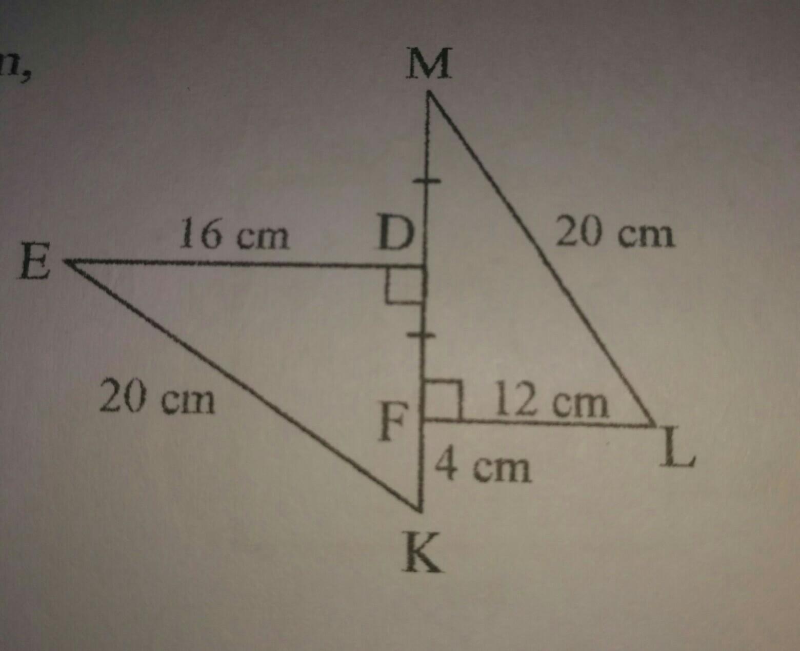 pada gambar berikut,panjang FL=KD=12 cm,FK=4 cm dan FM=DE ...
