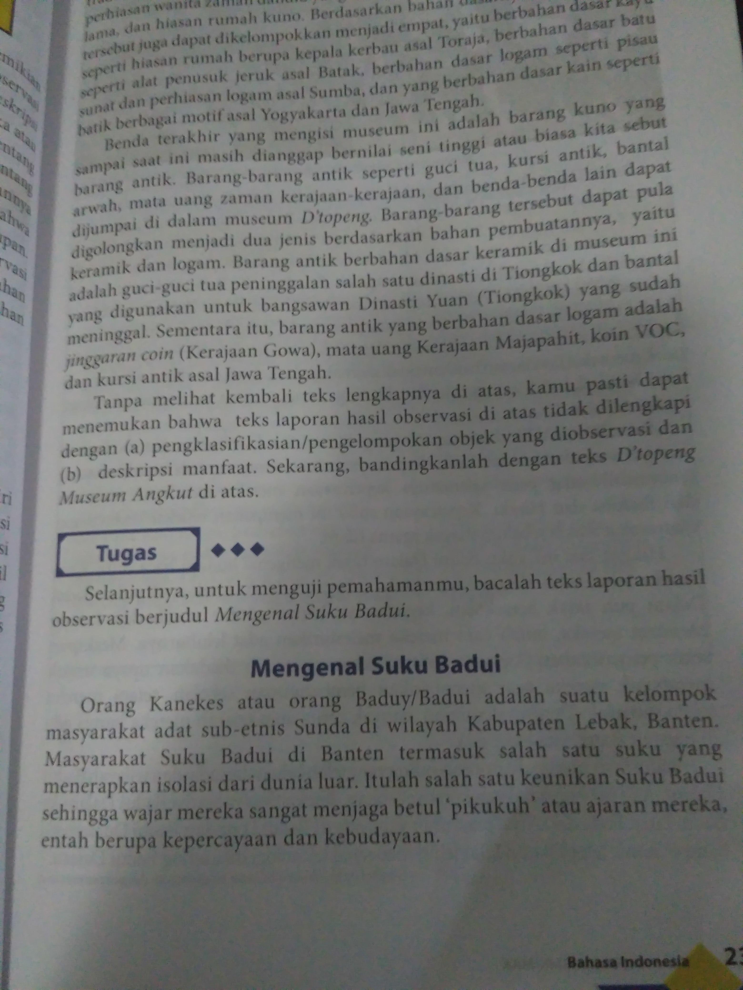 Sebutkan Kalimat Simplek Dalam Teks Mengenal Suku Badui Brainly Co Id