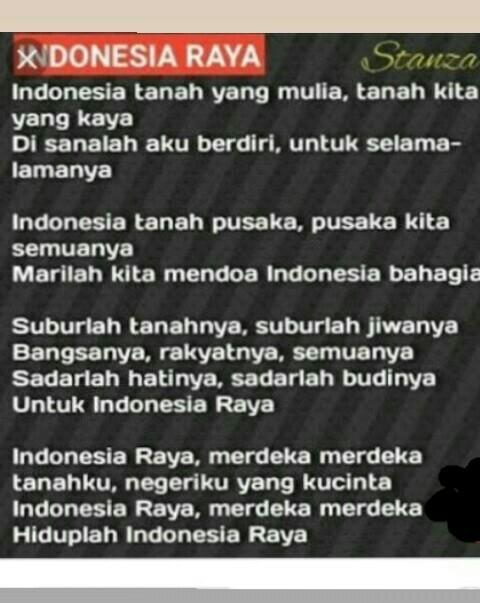 Tuliskan 4 Baris Lirik Lagu Indonesia Raya Stanza Ke 2 Brainly Co Id