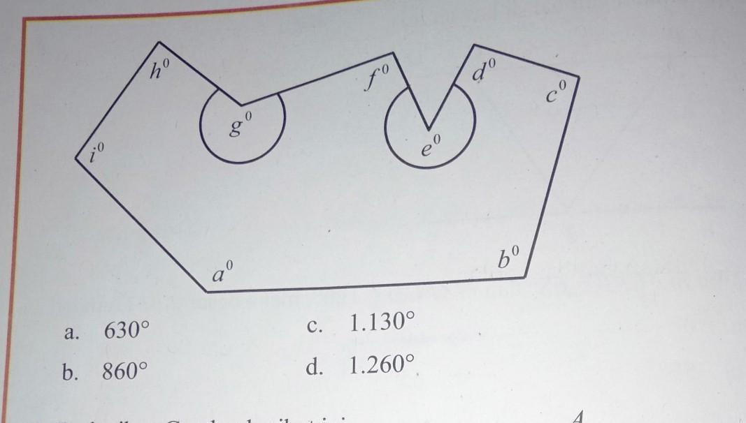 Perhatikan gambar nilai dari a derajat + b derajat + c ...