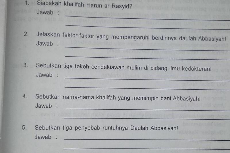 Sebutkan Tiga Penyebab Runtuhnya Daulah Abbasiyah ...