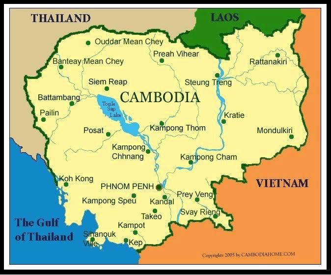 Gambar Peta Negara Kamboja Brainly Id Unduh Jpg Buta Laos