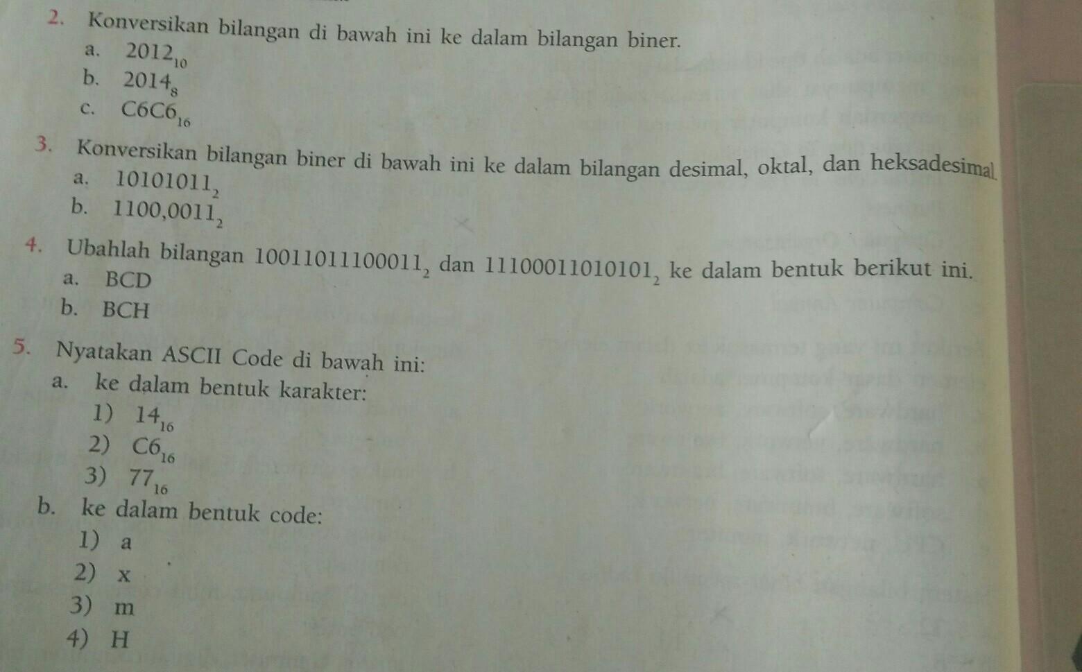 Contoh Soal Dan Jawaban Sistem Bilangan Biner