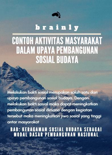 Contoh Kegiatan Sosial Budaya Di Masyarakat - Puspasari