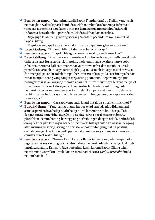 Contoh Teks Dialog Interaktif Brainly Co Id