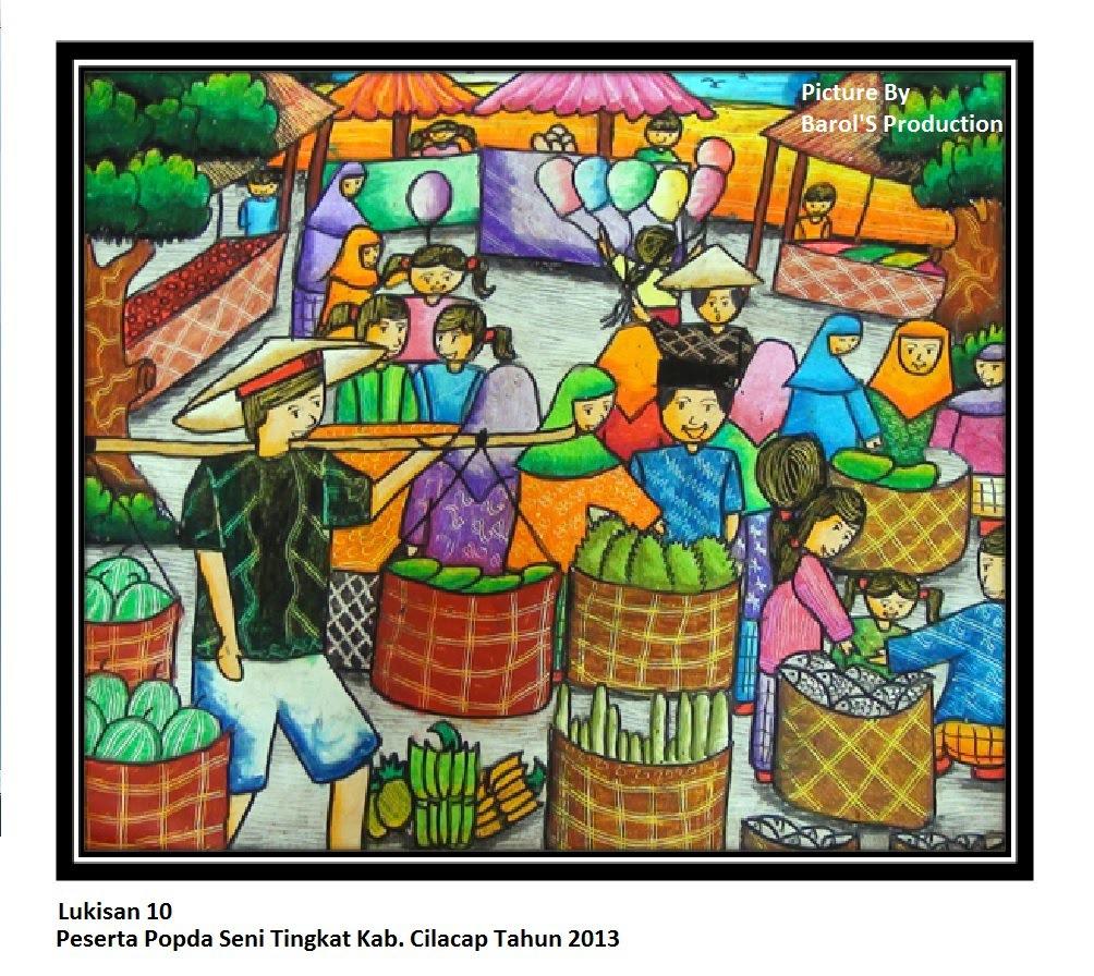 130 Gambar Ilustrasi Pasar Tradisional Yang Mudah Digambar