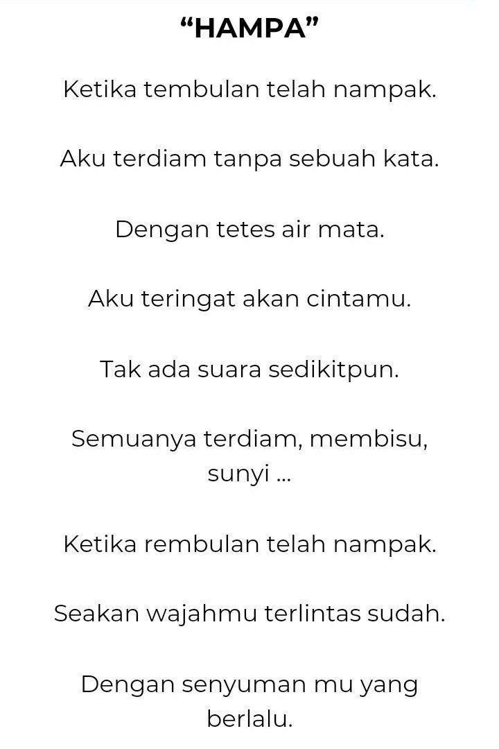 Kumpulan Contoh Diksi Dalam Puisi - Contoh Kumpulan Puisi ...
