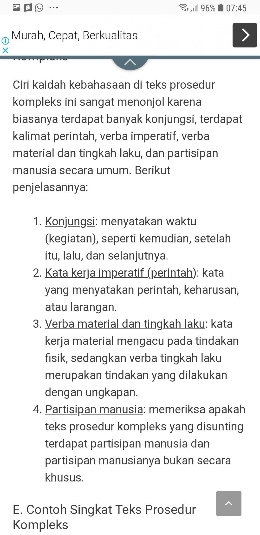 Contoh Kata Verba Material Materi Pelajaran 1