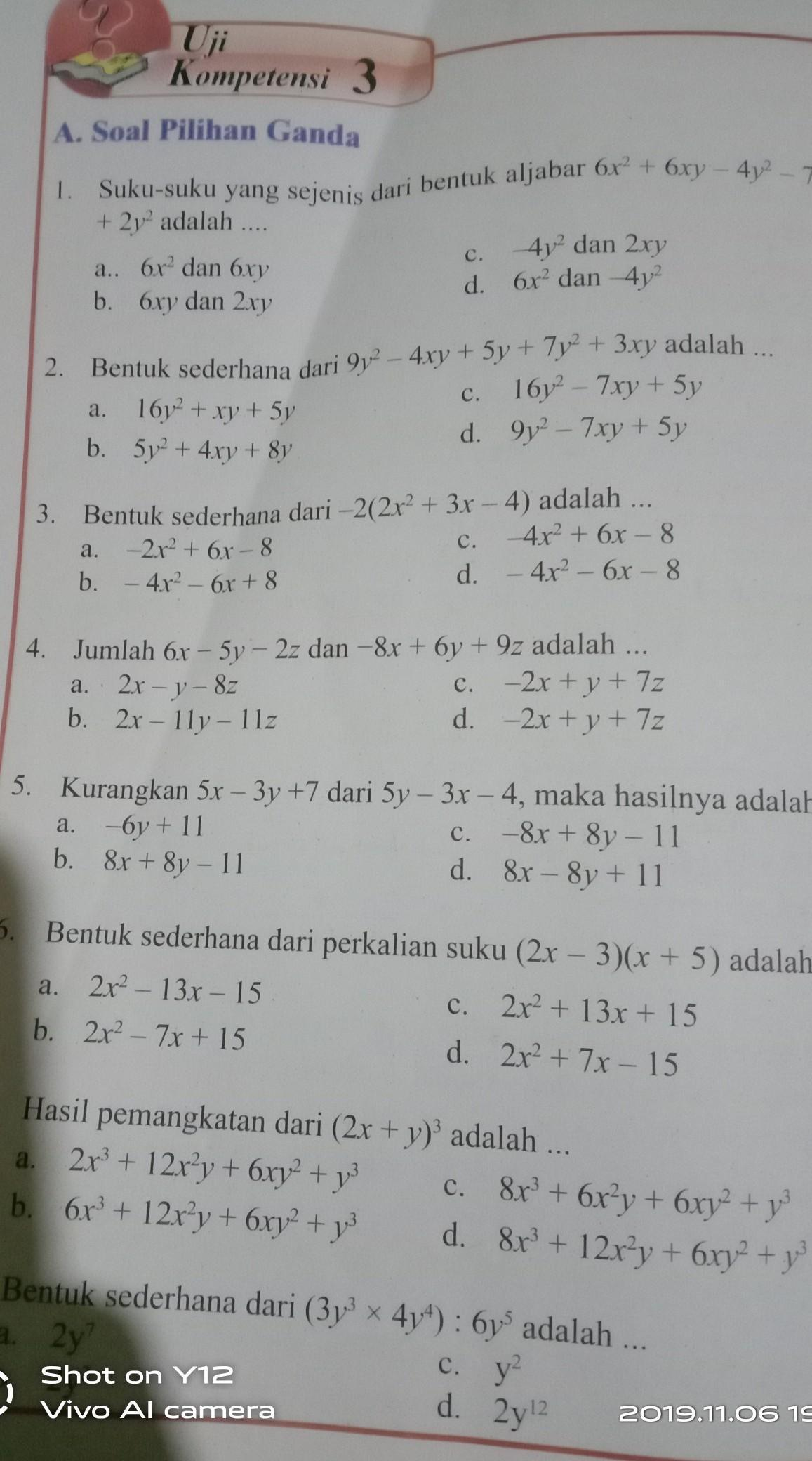Kalo Nggak Jelas Itu Jawaban Buku Paket Matematika Halaman 240 Uji Kompetensi 3 1 8 Brainly Co Id