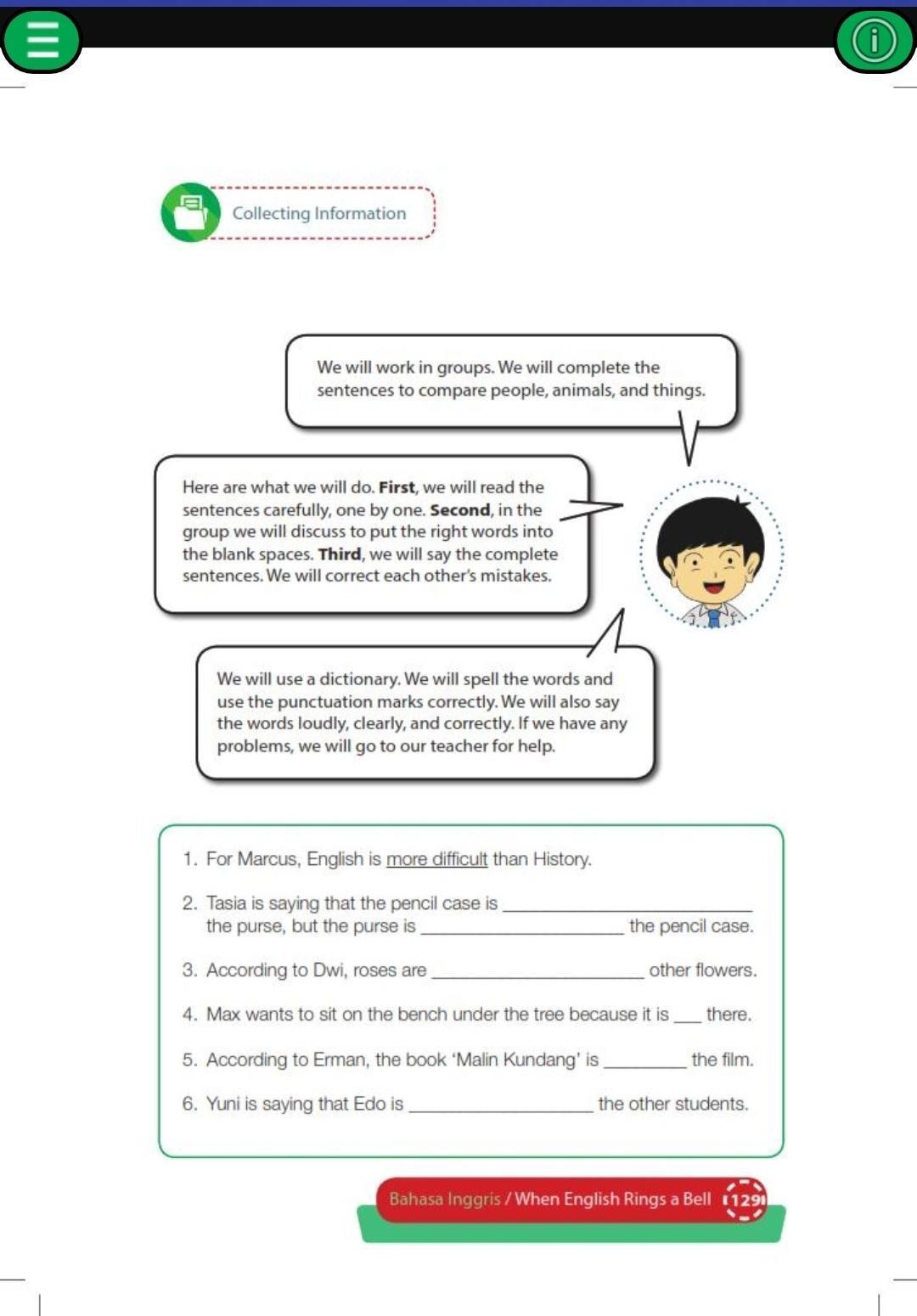 Kunci Jawaban Buku Bahasa Inggris Kelas 8 K13 Halaman 129 Brainly Co Id