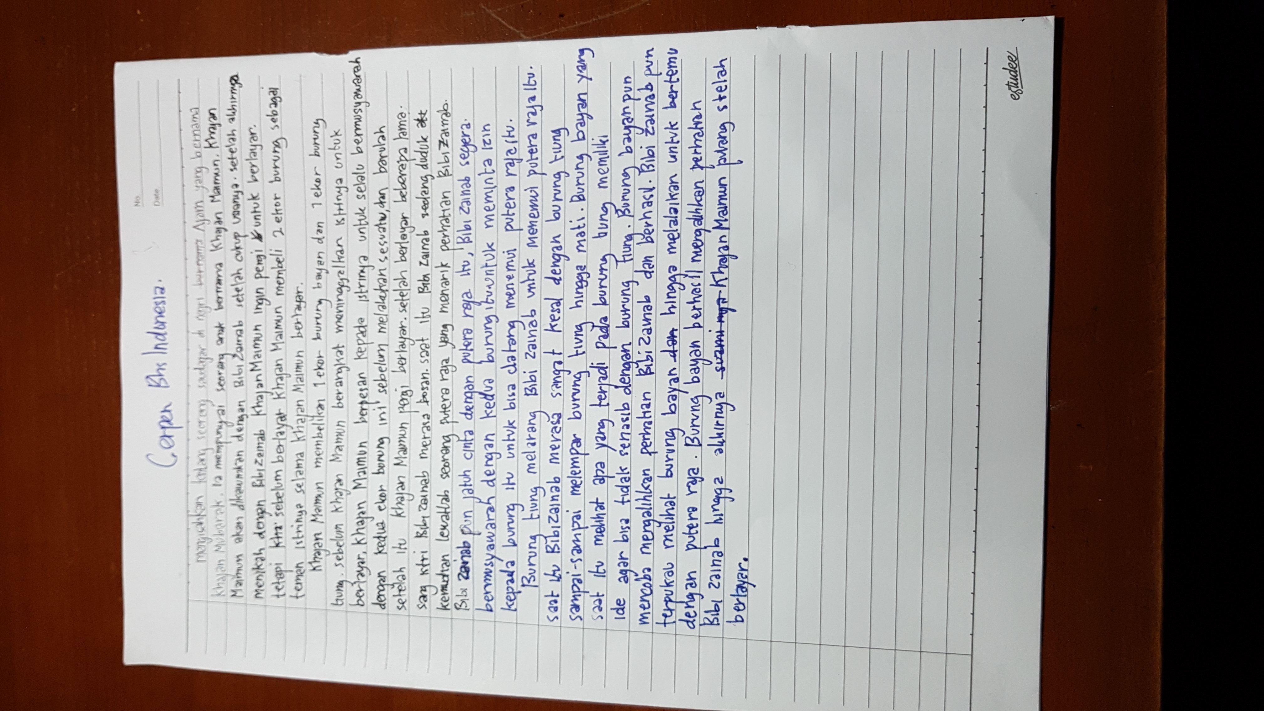 Saya Mengubah Teks Hikayat Bayan Budiman Menjadi Cerpen Apakah Bener