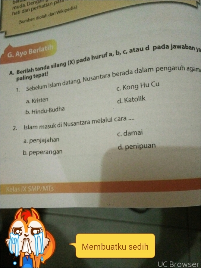 Tolong D Jawab Ya Pai Kelas 9 Halaman 130 132 Bagian A Dan B Brainly Co Id