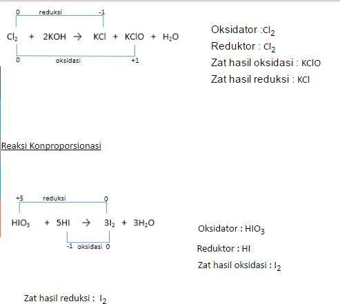 Apakah perbedaan reaksi disproporsionasi dengan reaksi ...