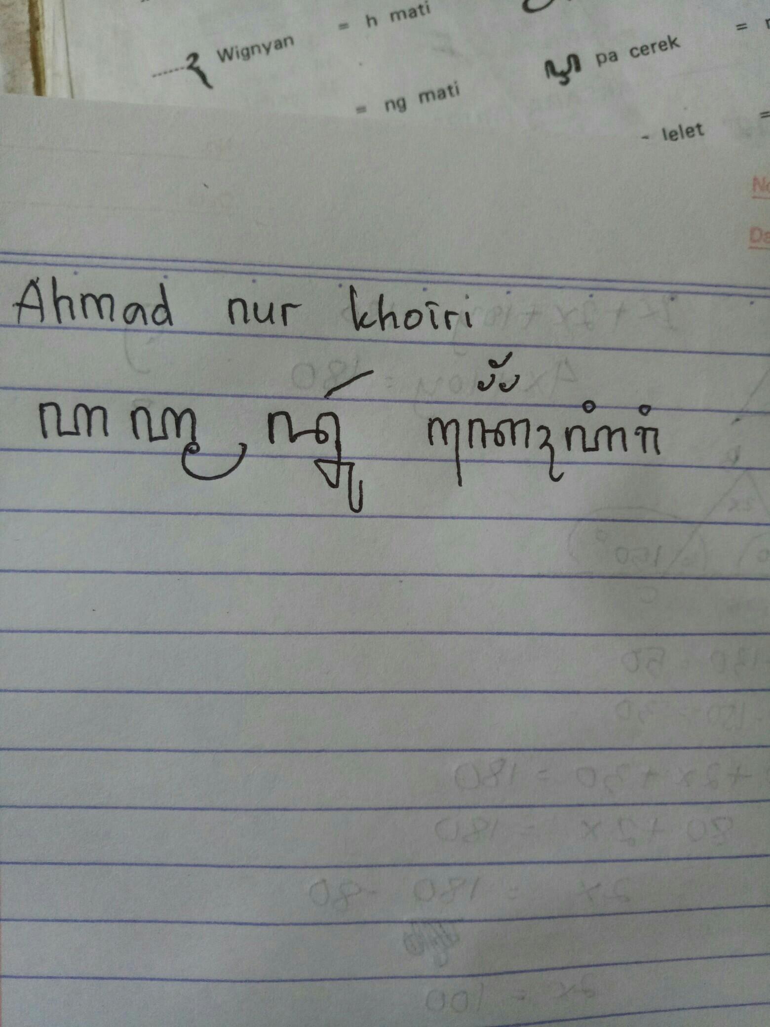 Aksara Jawa Ahmad