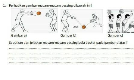 Sebutkan Dan Jelaskan Macam Macam Passing Bola Basket Pada Gambar Di Atas Brainly Co Id