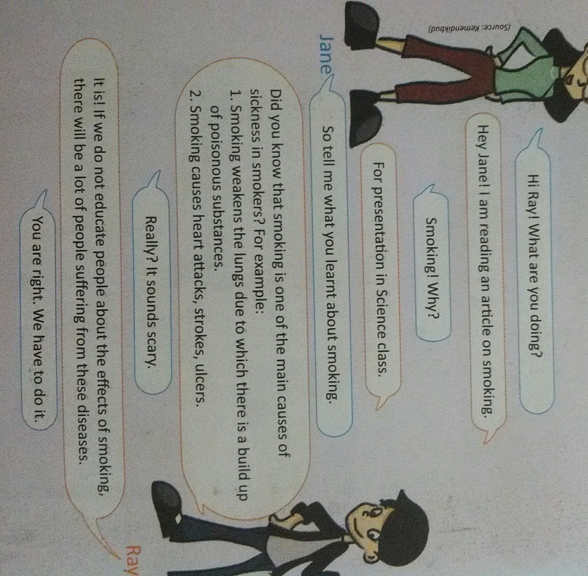 Contoh Dialog Bahasa Inggris Cause Smoking And Effect Smoking
