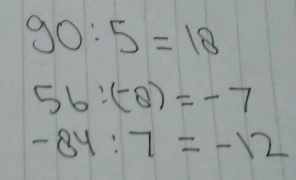 Tentukan Hasil Pembagian Bilangan Bulat Berikut A 90 5 B 56 8 C 84 7 Tolongin Sayaaa Brainly Co Id