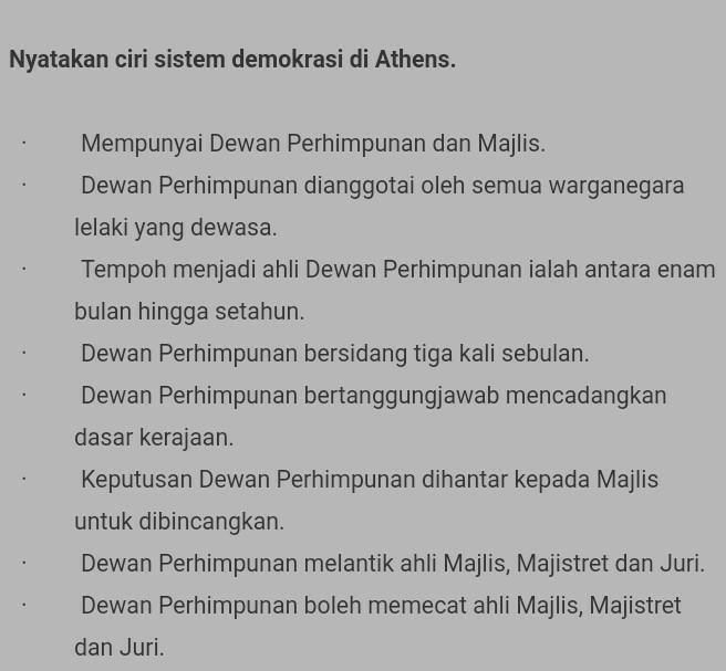 Apakah Ciri Ciri Demokrasi Di Athens Dan Malaysia Brainly Co Id