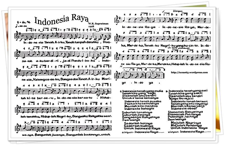 Not Angka Lagu Indonesia Raya Pianika