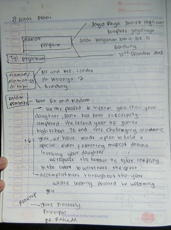 Berikan Satu Contoh Jenis Undangan Formal Bahasa Inggris