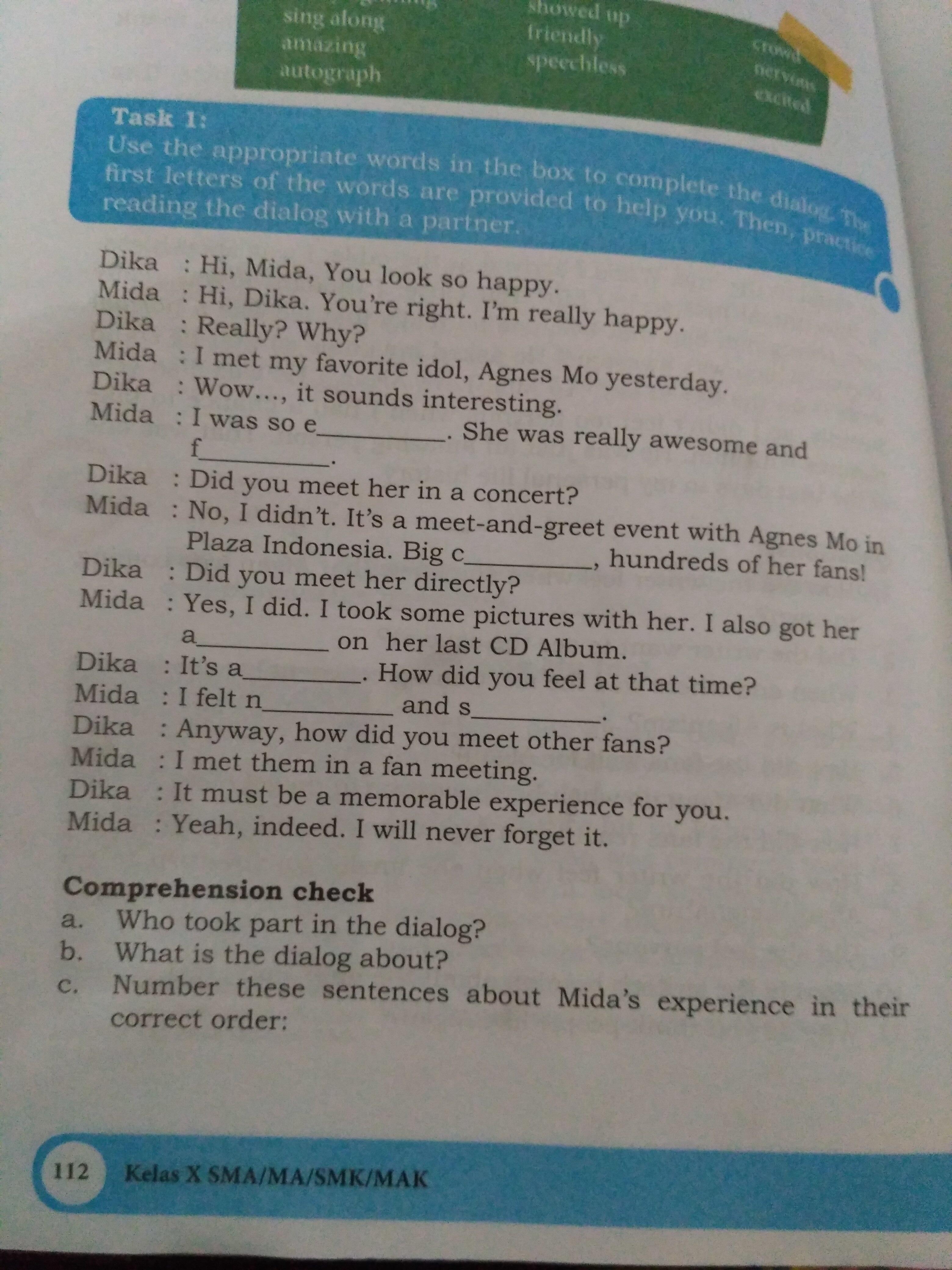 Contoh Dialog Dika Dan Mida Brainly Co Id