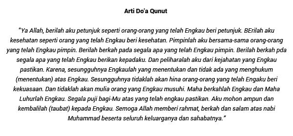 Doa Qunut Dengan Artinya Brainlycoid