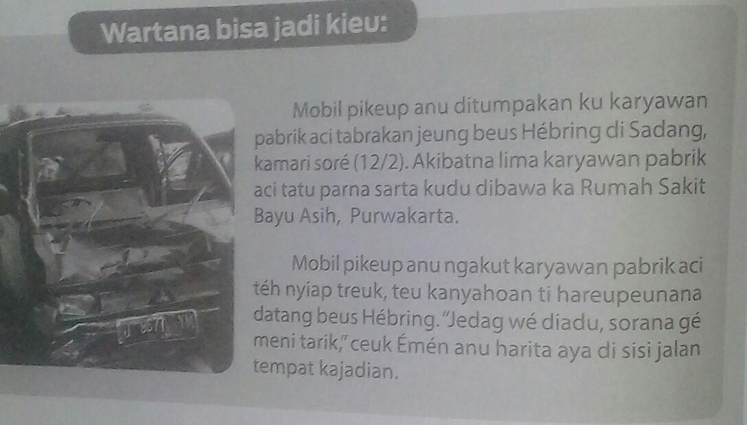 Berita Bahasa Sunda Singkat 5w1h - Gue Viral