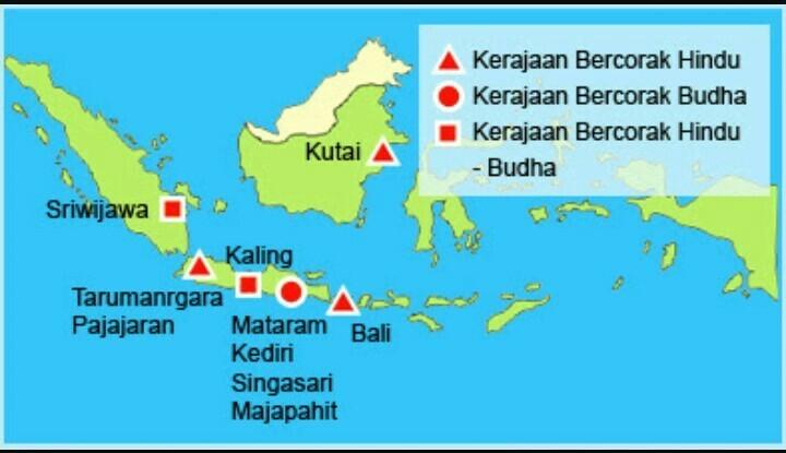 Peta Persebaran Kerajaan Hindu Buddha Di Indonesia Brainly Co Id