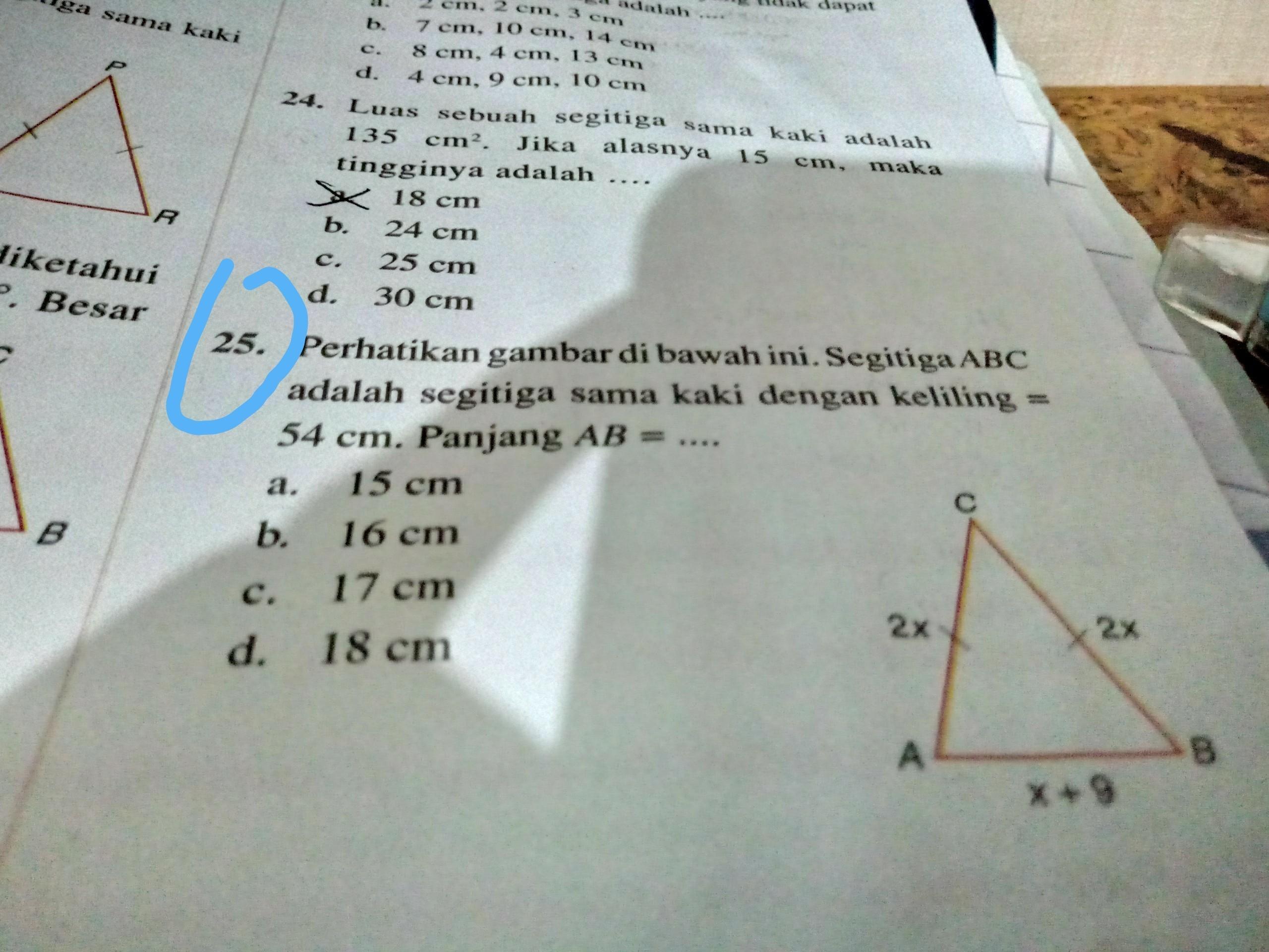 perhatikan gambar dibawah ini. segitiga ABC adalah ...