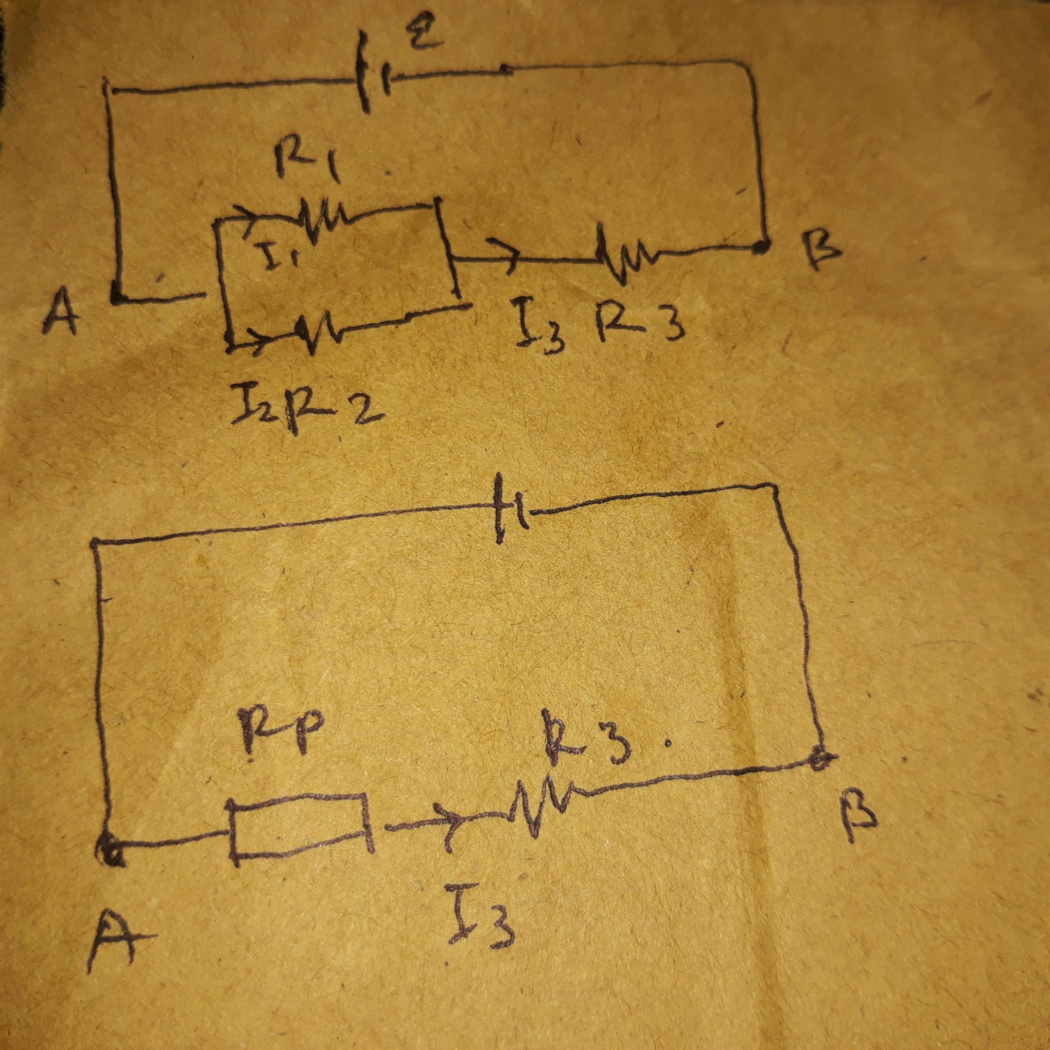 Perhatikan gambar di bawah ini! Jika R1 = 3 ohm, R2 = 6ohm ...