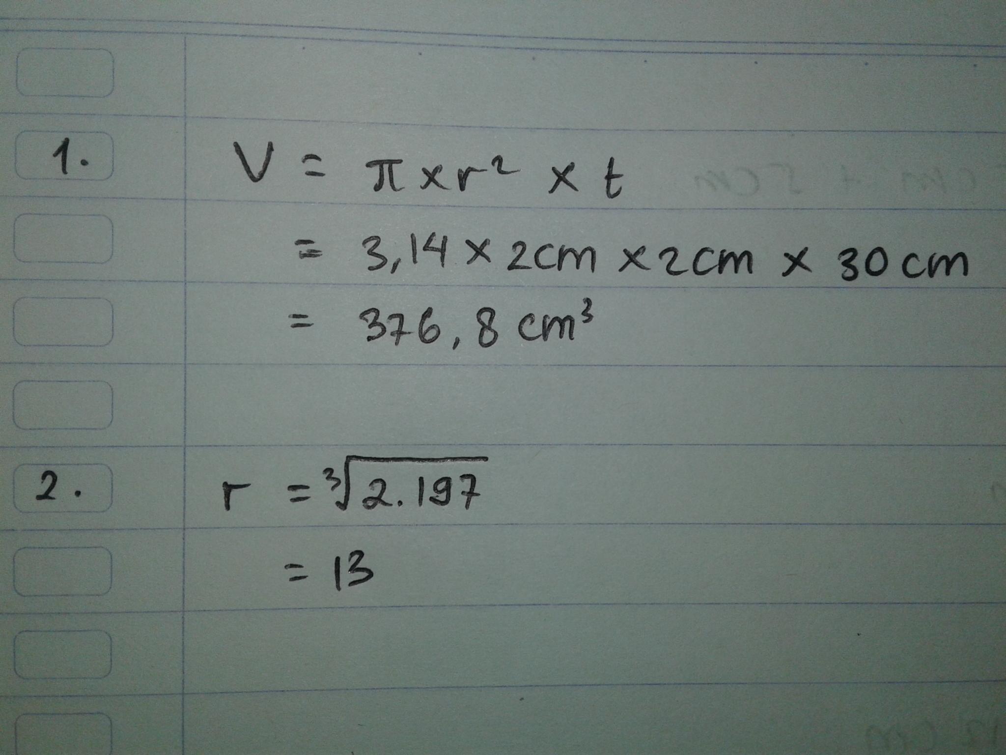 Diketahui sebuah kubus dengan Volume=2.197. Brp panjang ...