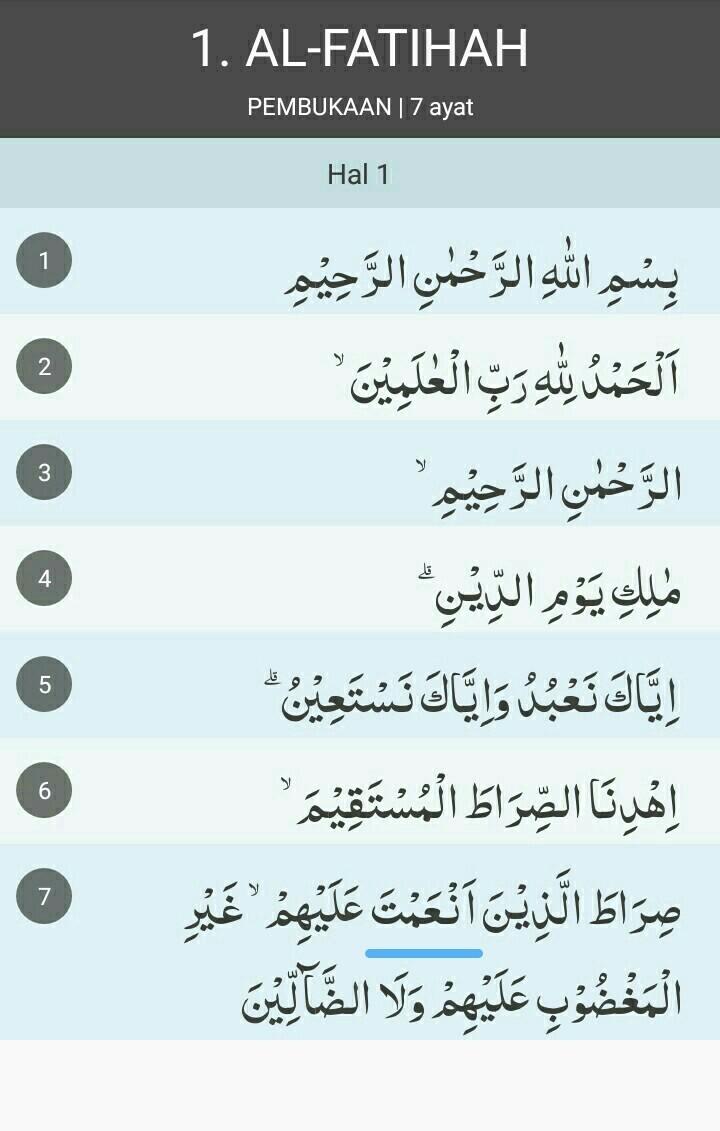 Arti Surat Al Fatihah Ayat 1 7 The Galleries Of Hd Wallpaper