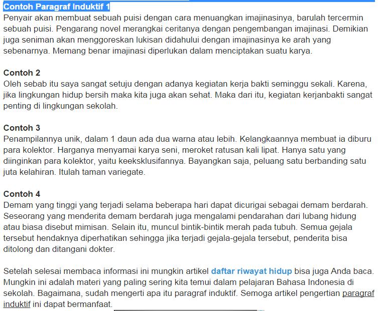 Contoh Paragraf Induktif Singkat T Tentang Penyakit Asma Brainly Co Id