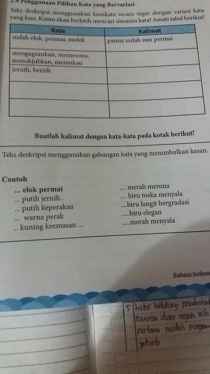 Buatlah Kalimat Dengan Menggunakan Kata 1elok Permai 2pitih