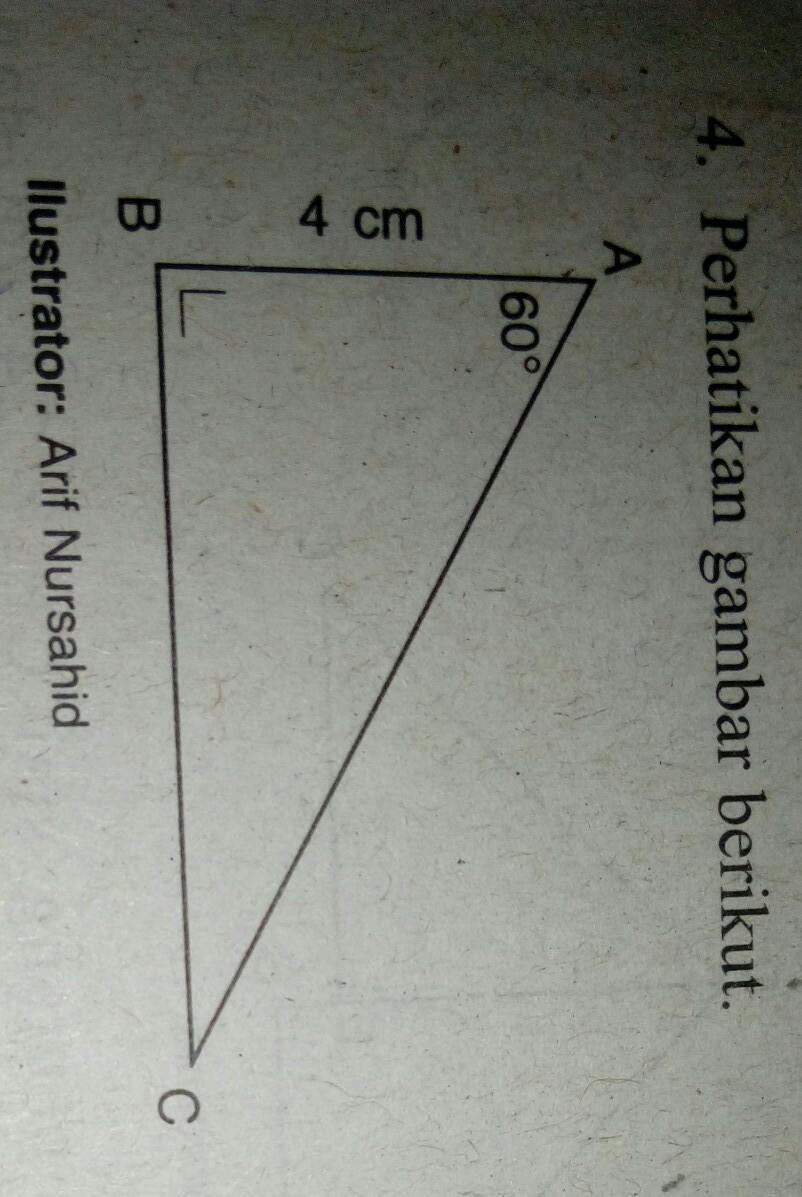 perhatikan gambar berikut panjang sisi AC adalaha.4√2 cmb ...