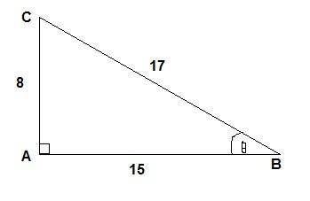 Diberikan tan θ = -8 ÷ 15 dengan sin θ > 0 ,tentukana. Cos ...