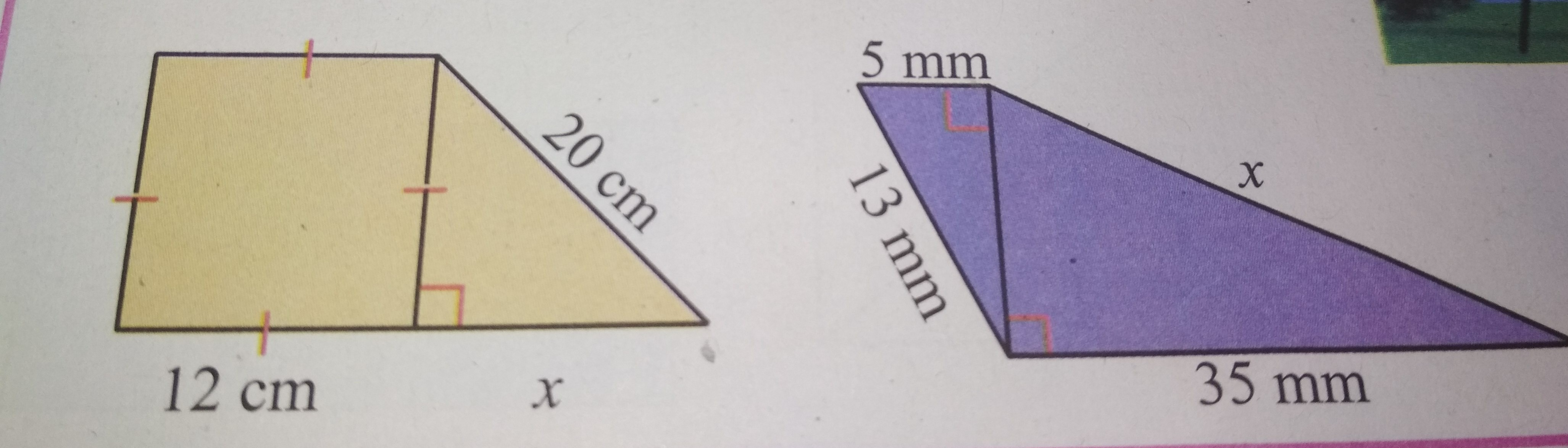 tentukan nilai x pada kedua gambar berikut. - Brainly.co.id