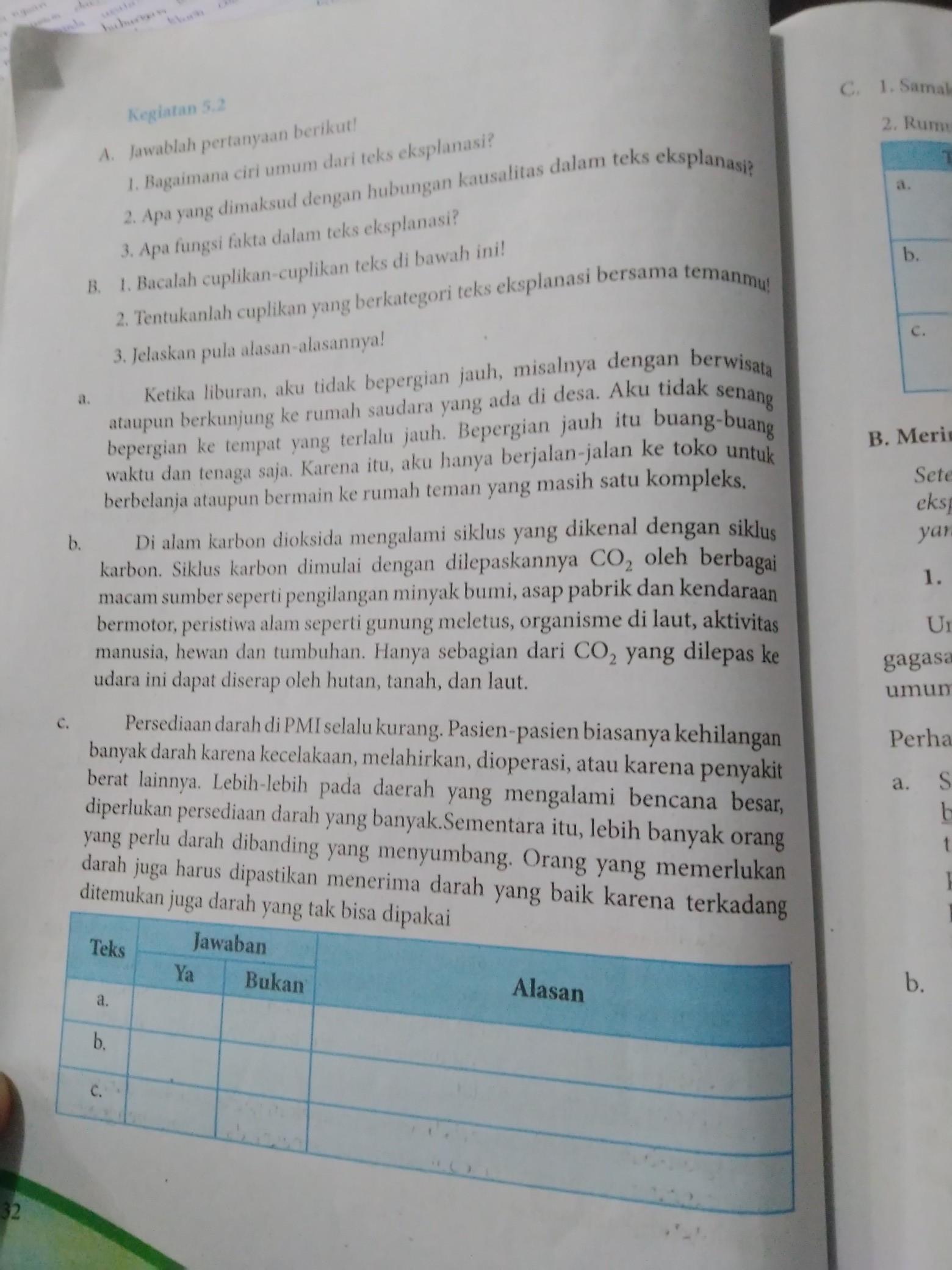 Kegiatan 5 2 Bahasa Indonesia Brainly Co Id