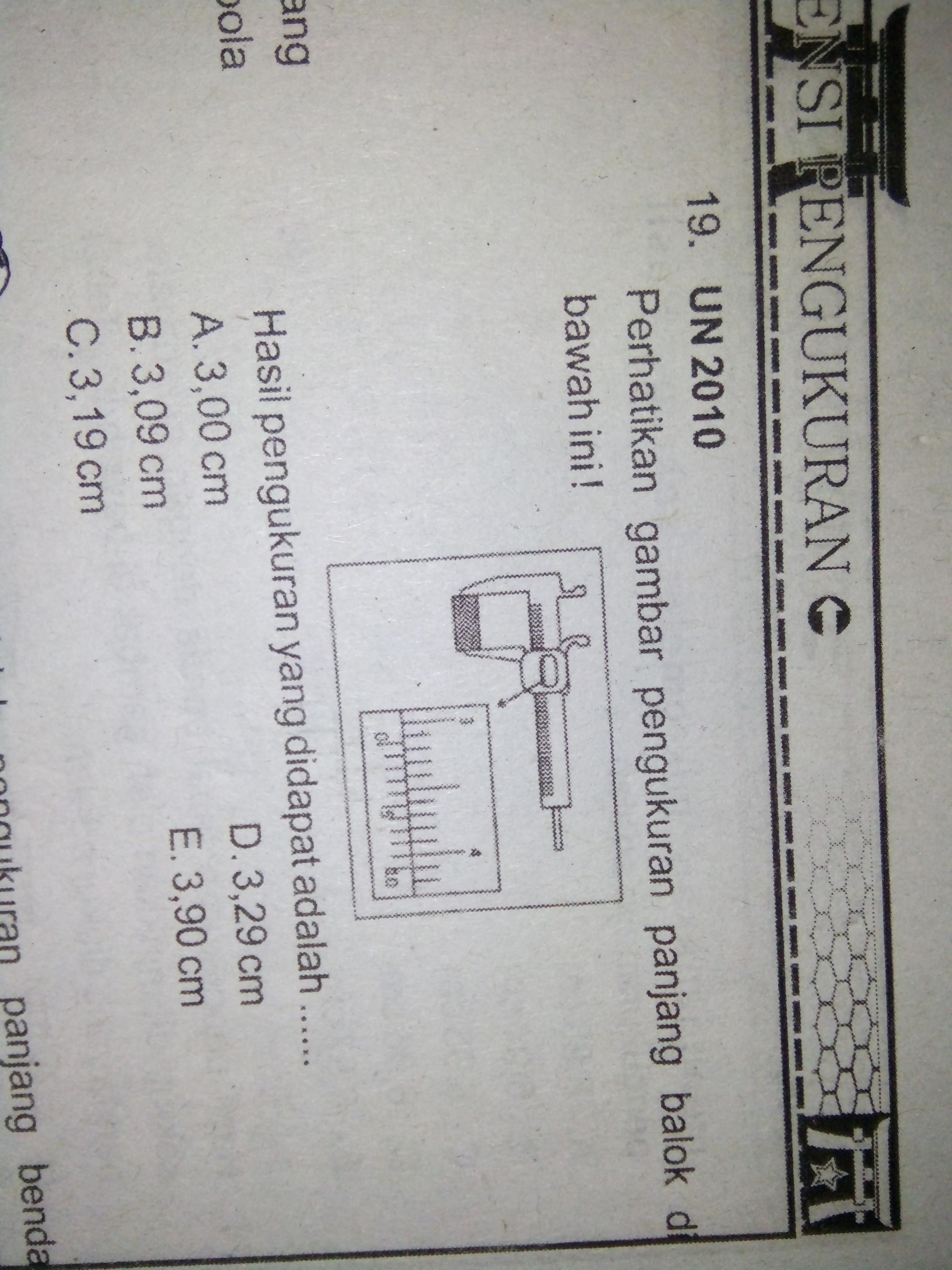 perhatikan gambar pengukuran panjang balok di bawah ini ...