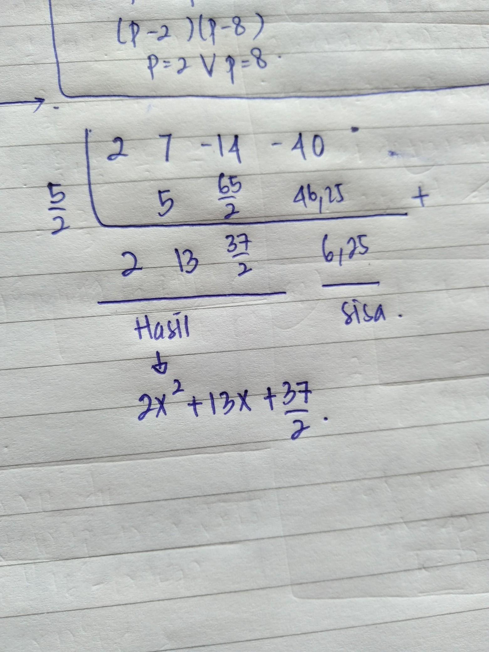 2x 7x 14x 40 2x 5 Tolong Di Jwab Pakai Caranya Brainly Co Id