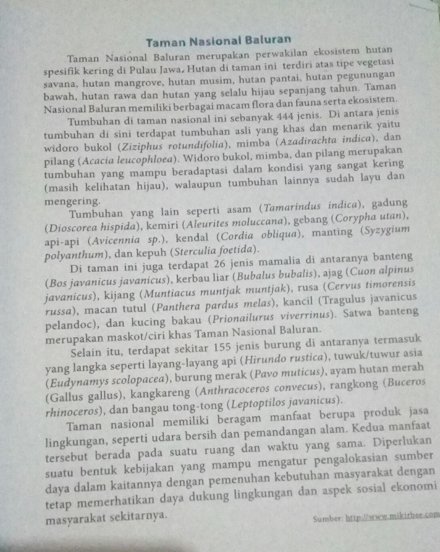 Kalimat Frasa Pada Taman Nasional Baluran Dan Afiksasi Pada Hukum