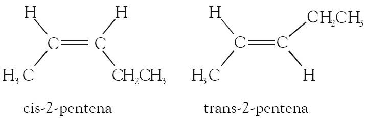 Bagaimana bentuk struktur isomer cis-2 pentena dan trans-2 ...