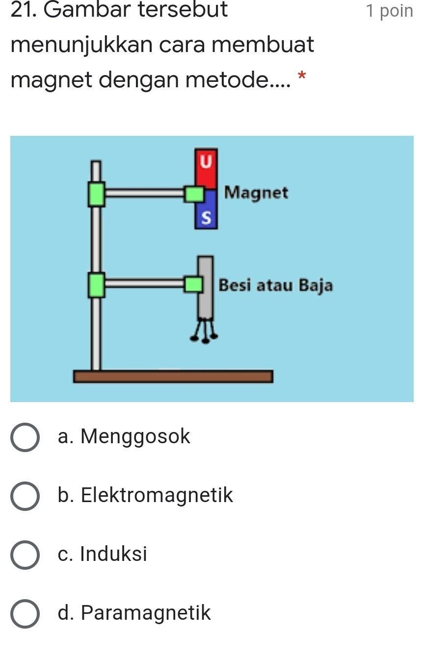 Gambar Tersebut Menunjukkan Cara Membuat Magnet Dengan Metode 1 Poin A Menggosok Brainly Co Id