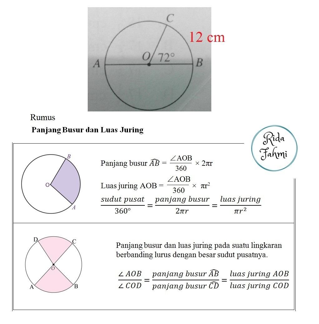 pada gambar d samping AB adalah diameter dan panjang busur ...