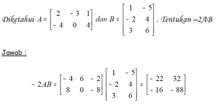Contoh Perkalian Dua Matriks Beserta Penyelesaiannya Brainly Co Id